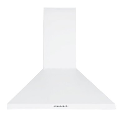 white chimney stove hood vent