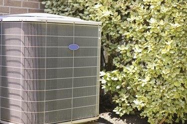 Home air conditioner unit in summer season.