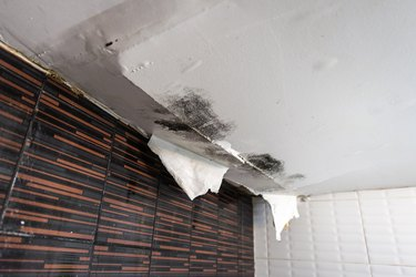 Damaged ceiling from water leak