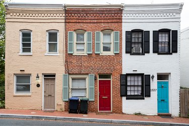 Historic row houses in Washington DC