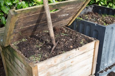 View from the top of an open family compost