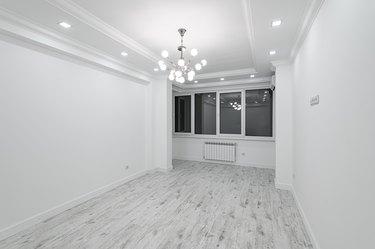 modern white empty room with window