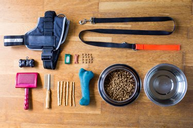 dog items knolling
