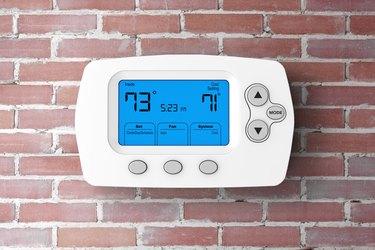 Modern Programming Thermostat. 3d Rendering