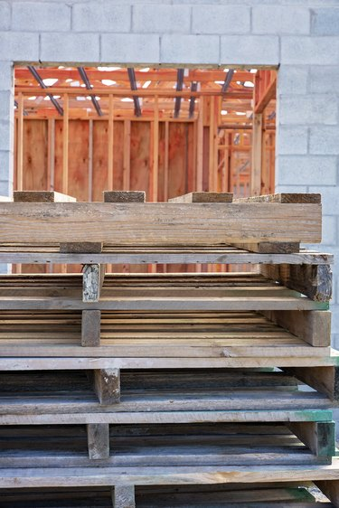 Empty Timber Pallets