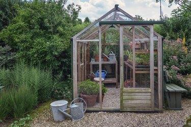 Little greenhouse in the garden.