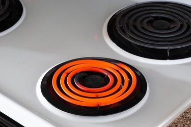 Hot Burner On Stove Top