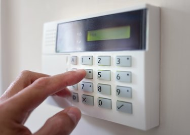 Home or office security alarm keypad