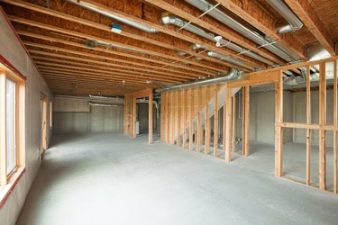 Unfinished House Walk-out Basement