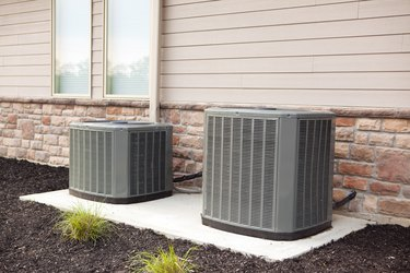 Air Conditioners on Concrete Pad