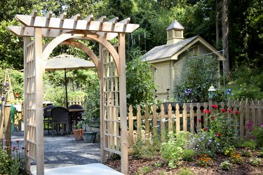 Garden Entrance and Potting Shed