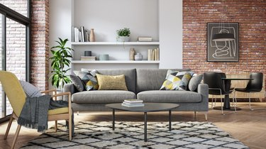 Modern living room interior - 3d render