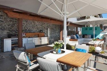 terrace of a luxury house
