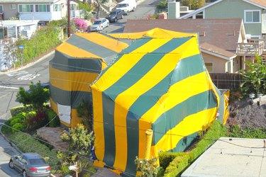 Nieghborhood House Being Fumigated