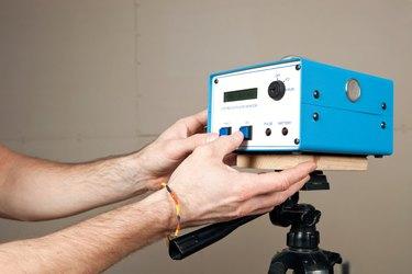 Radon Monitoring System in House Basement
