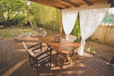 Garden lounge background