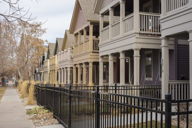 Urban housing in Denver, Colorado USA