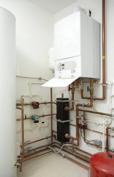 Boiler room in new build house