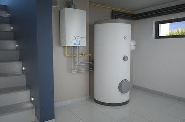 Boiler room - gas heating system, 3d illustration