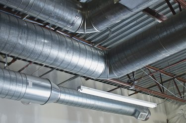 A few bent air ducts in the warehouse