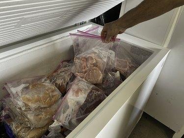 Extra freezer storage for food