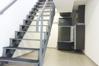 Stairs with Cooling Air Conditioning Control System Unit