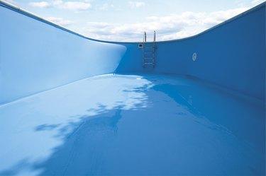 Empty swimming pool, close-up