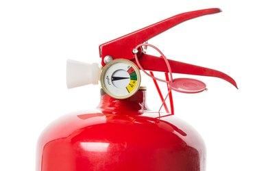 Fire extinguisher closeup