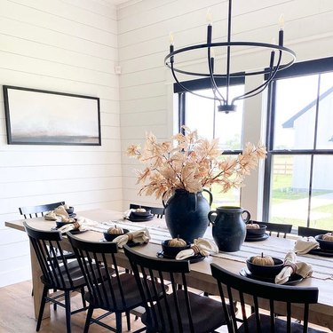 gothic fall tablescape