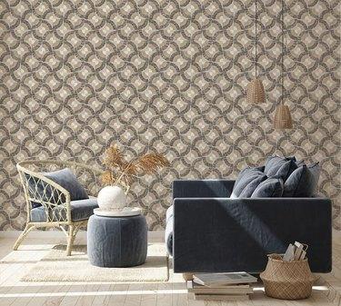 Grasscloth fans wallpaper