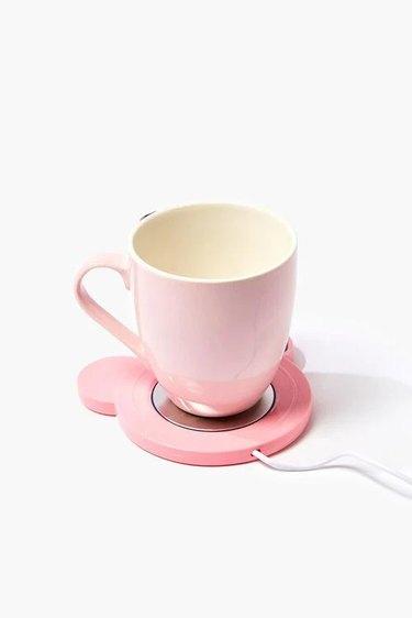 pink mug and warmer