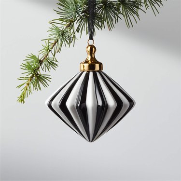 black and white diamond ornament