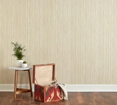Grasscloth neutral wallpaper