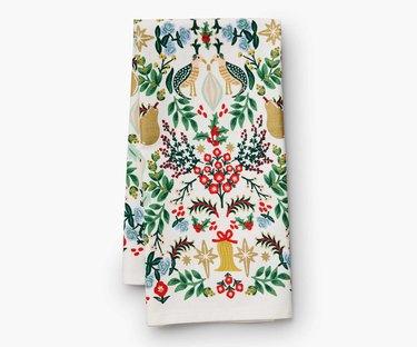 Rifle Paper Co. holiday tea towel
