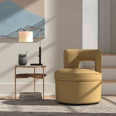 Yellow contemporary accent chair