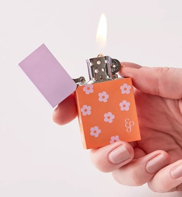 edie parker lighter with floral print
