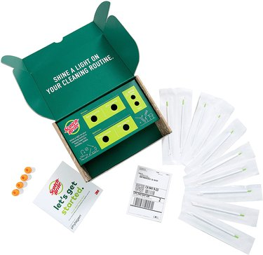 A Clean Scan kit displayed with all of its contents