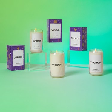 homesick astrology collection candles