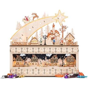 The Holiday Aisle Wooden Christmas Shooting Star Advent Calendar