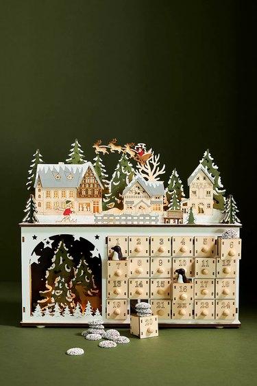 Anthropologie Kringle Village Light-Up Advent Calendar