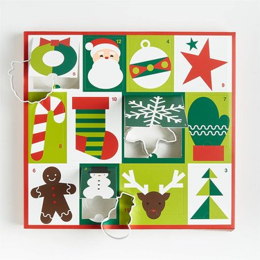 Crate and Barrel 12 Days of Christmas Cookie Cutter Advent Calendar