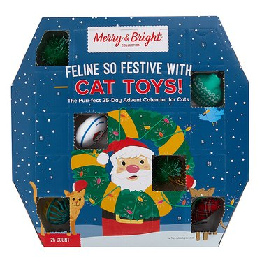 Merry & Bright Holiday Feline So Festive with Cat Toys 25-Day Advent Calendar