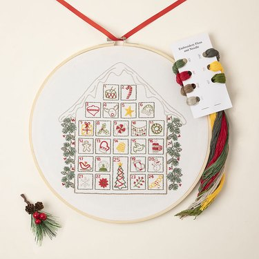 Uncommon Goods Stitch a Day Advent Embroidery Calendar