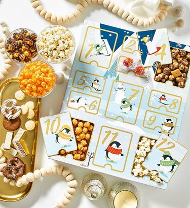 The Popcorn Factory Holiday Popcorn Advent Calendar
