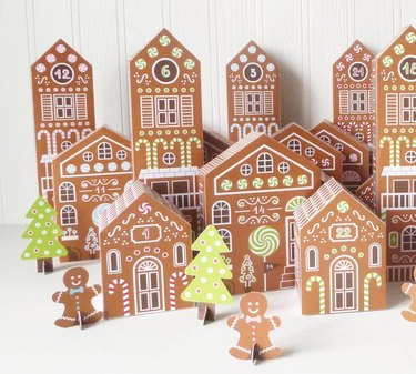 Little Llama Shoppe Printable Gingerbread Houses Advent Calendar
