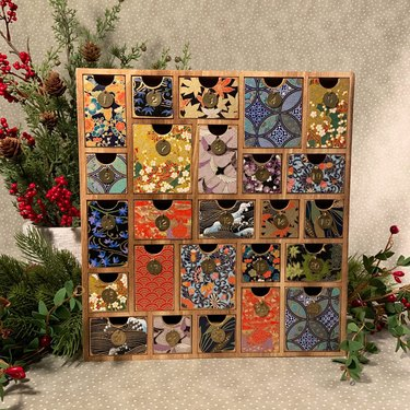 Jet and Jones Wood Advent Calendar With Washi Paper