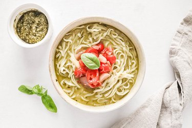 Pesto creamy ramen