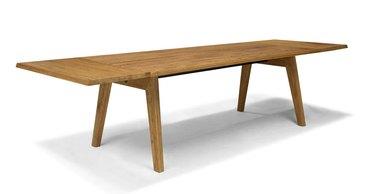 extendable oak dining table