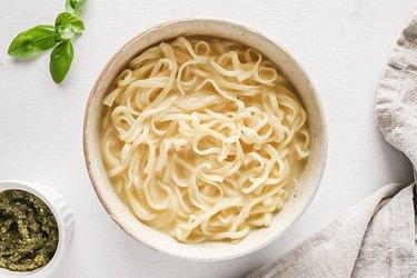 Creamy ramen in a bowl