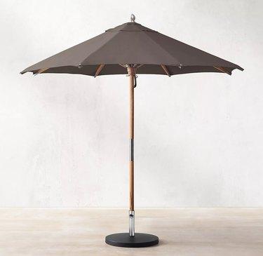 Restoration Hardware teak umbrella